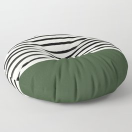 Forest Green x Stripes Floor Pillow