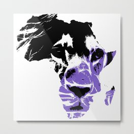 Lion Heart Africa Metal Print