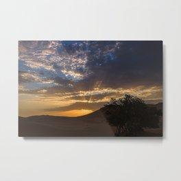 Sunset at the desert, Erg Chebbi Metal Print