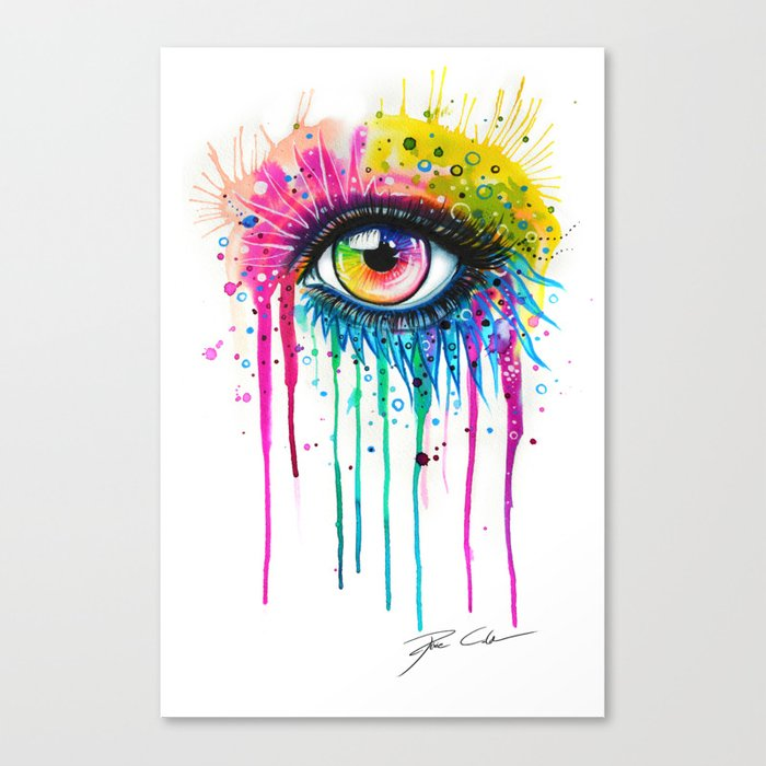 """""""Rainbow in your eyes"""" Canvas Print"""