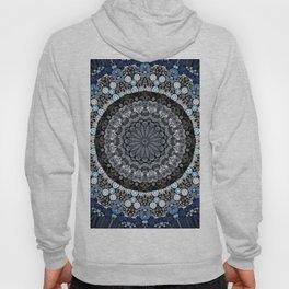 Dark Blue Grey Mandala Design Hoody