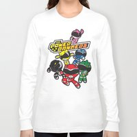 power rangers Long Sleeve T-shirts featuring Power Rangers  by Dik Low