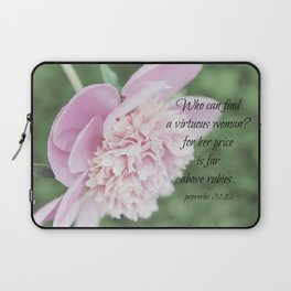 Proverbs 31 Above Rubies Laptop Sleeve