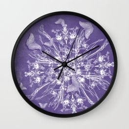 ghost bouquet and butterflies Wall Clock
