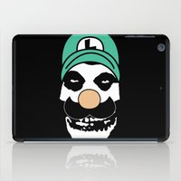 luigi iPad Cases featuring Misfit Luigi by cudatron
