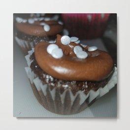 Chocolate Oreo crunch cupcakes Metal Print
