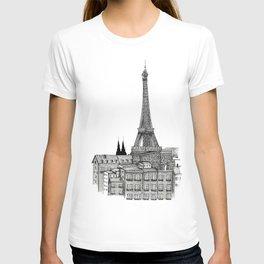 City view of paris T-shirt