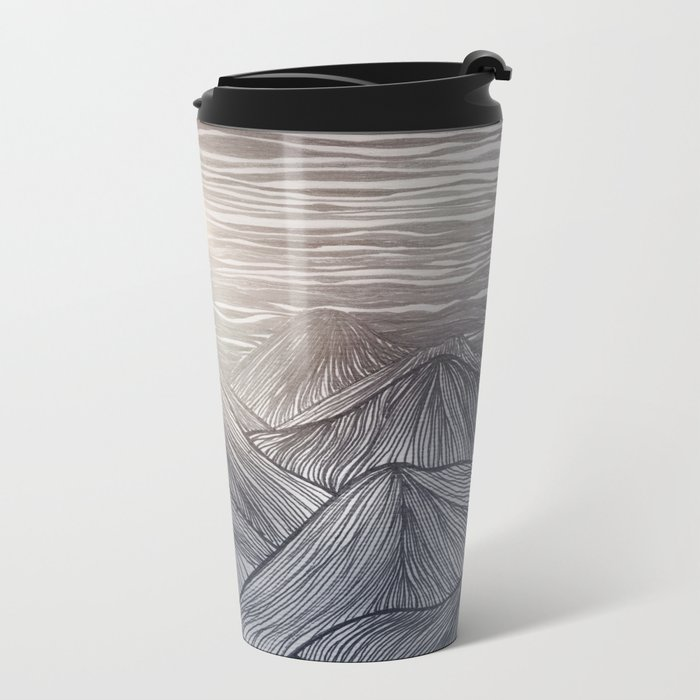 Lines in the mountains X Metal Travel Mug
