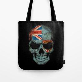Dark Skull with Flag of Fiji Tote Bag