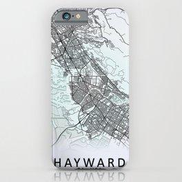 Hayward, CA, USA, White, City, Map iPhone Case