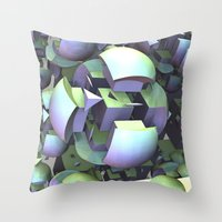 sci fi Throw Pillows featuring Sci-fi town by thea walstra