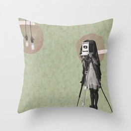Feminine Collage II Throw Pillow