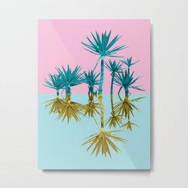crazy palm trees Metal Print