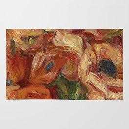"""Auguste Renoir """"Anemones dans un vase vert"""" Rug"""