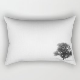 Foggy Tree Rectangular Pillow