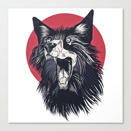 Wolf Head No2. Canvas Print