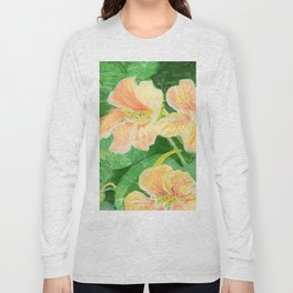 Nasturtium flowers in the garden Long Sleeve T-shirt