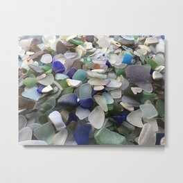 Sea Glass Assortment 5 Metal Print
