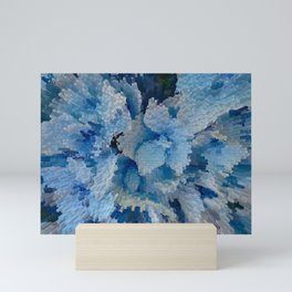 Hydrangea glitches Mini Art Print