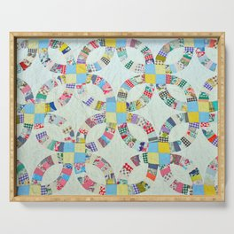 Colorful quilt pattern Serving Tray