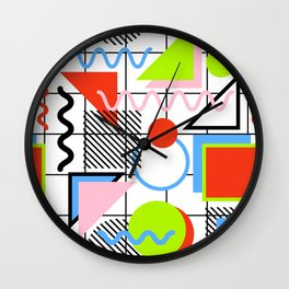 Circle Square Triangle Wall Clock