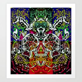 Crowning the clown Art Print