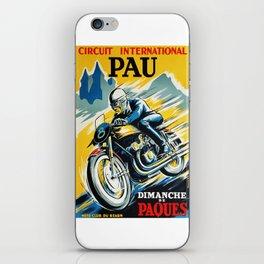 Grand Prix de Pau, Race poster, vintage motorcycle poster, retro poster, iPhone Skin