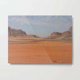 Wadi Rhum Jordan Metal Print