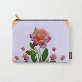 PEACHY PINK ROSE ART NOUVEAU ART Carry-All Pouch
