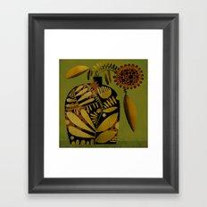 PATTERNED VASE Framed Art Print
