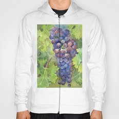 Grapes Watercolor Fruit Food Wine Lovers Hoody