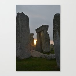 Stonehenge at sunrise Canvas Print