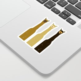 Triple LLAMAS ALPACAS CAMELS Sticker