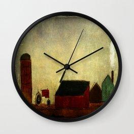 Americana Barnyard with Tractor Wall Clock