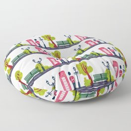 Phone Booth and Guard Pattern Floor Pillow