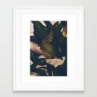 leaf Framed Art Prints featuring Leaf by Chris Schoonover