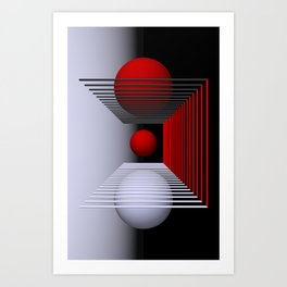 games with geometry -15- Art Print