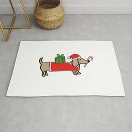 Christmas dachshund Rug