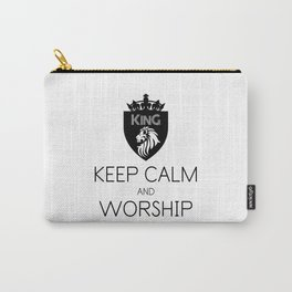 KEEP CALM AND WORSHIP Carry-All Pouch