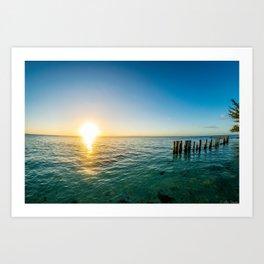 Belize Sunset Art Print