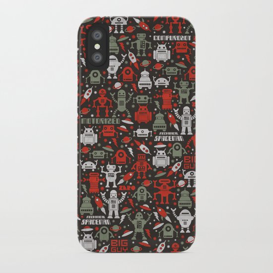 Vintage Robots iPhone Case