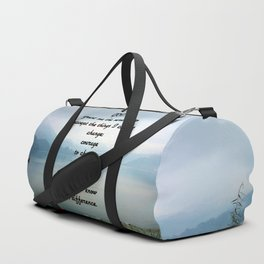 Serenity Prayer With Phewa Lake Panoramic View Duffle Bag