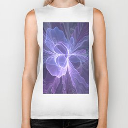 Abstract Art, Purple Fantasy Fractal Biker Tank
