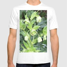 Lily of the Valley MEDIUM White Mens Fitted Tee