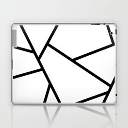 Black and White Fragments - Geometric Design I Laptop & iPad Skin