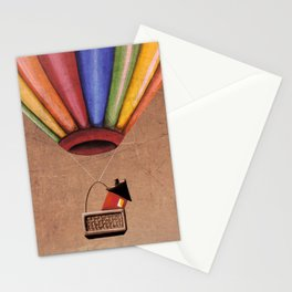 Up, Up & Away - balloon ride Stationery Cards