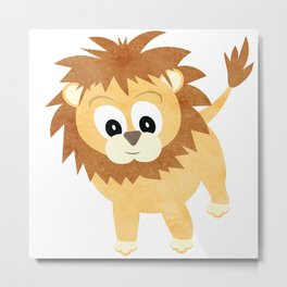 Baby Lion Cub Metal Print