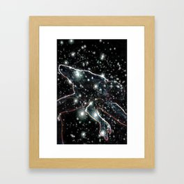 Glowing Yoga Pose 1  (We Too Are Cosmos Made) Framed Art Print