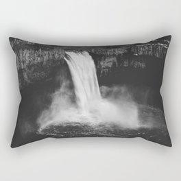 Palouse Falls Black and White Rectangular Pillow