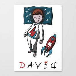 Sleeping artist DAVID Canvas Print